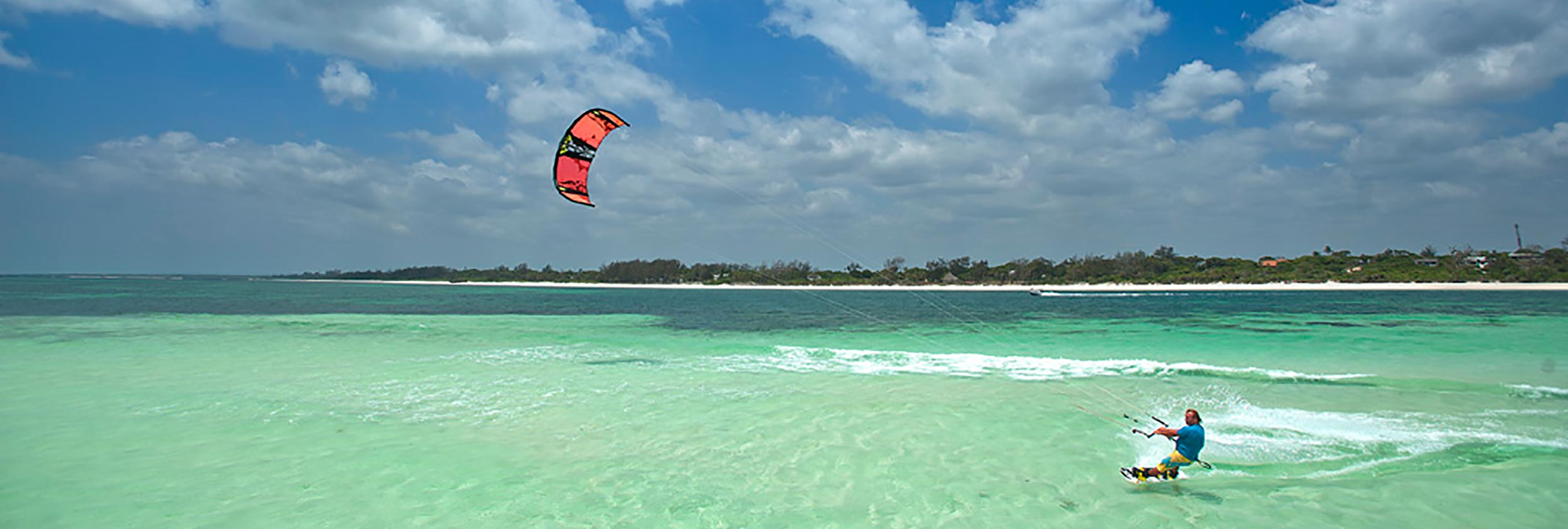 Fare kitesurf a Watamu Beach in Kenya