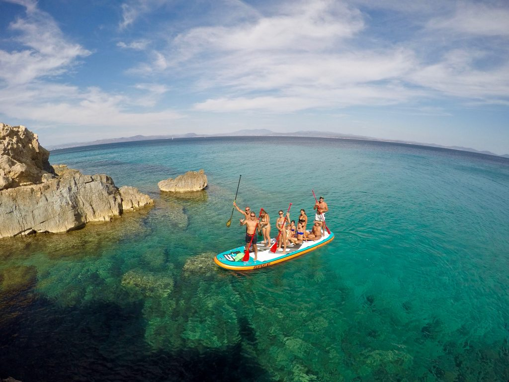 stand up paddle south sardinia
